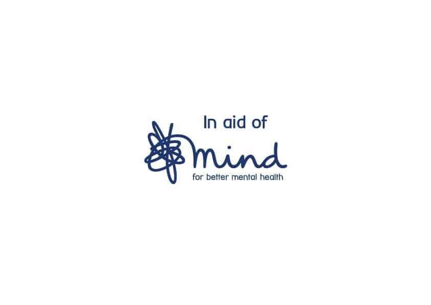 Logo for 'In aid of Mind' for better mental health.