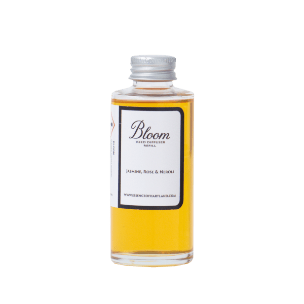 Glass bottle of Bloom diffuser refill.